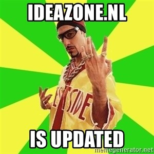 Ali G - IDEAZONE.NL IS UPDATED