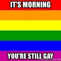 You're Probably Gay - It's morning you're still gay