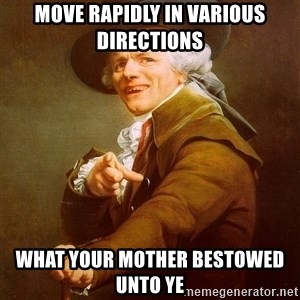 Joseph Ducreux - move rapidly in various directions what your mother bestowed unto ye