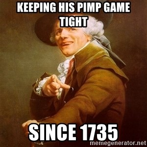 Joseph Ducreux - keeping his pimp game tight since 1735