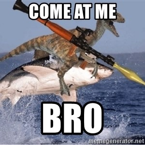 raptor shark - COME AT ME BRO