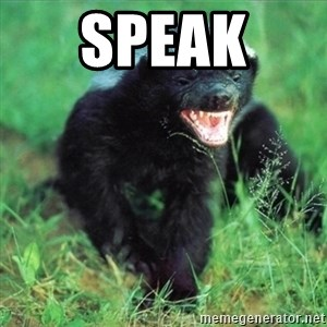 Honey Badger Actual - Speak