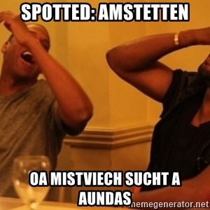 Kanye and Jay - Spotted: Amstetten oa mistviech sucht a aundas