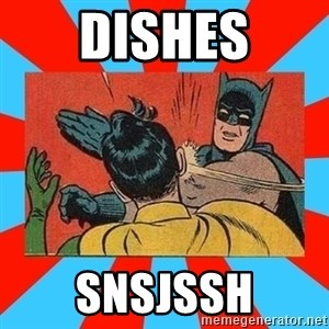 Batman Bitchslap - DISHES SNSJSSH