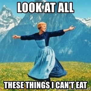 Sound Of Music Lady - LOOK AT ALL these things i can't eat