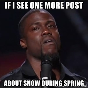 Kevin Hart Face - IF i see one moRe post ABout Snow during spring