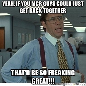 Yeah If You Could Just - yeah, if you mcr guys could just get back together that'd be so freaking great!!!