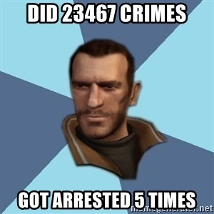 Niko - DID 23467 CRIMES GOT ARRESTED 5 TIMES