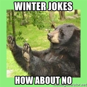 how about no bear 2 - winter jokes how about no