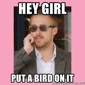 Hey Girl - Hey Girl Put a bird on it