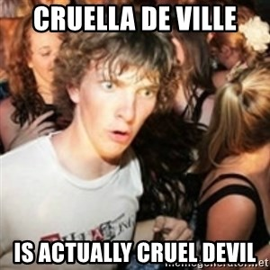 sudden realization guy - Cruella de Ville Is actually cruel devil