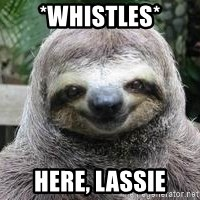 Sexual Sloth - *whistles* Here, Lassie