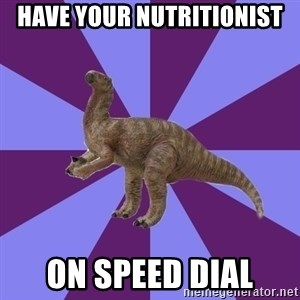 IBS Iguanadon - have your nutritionist on speed dial