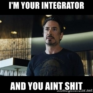 Tony Stark We Have a Hulk - I'm your integrator And you aint shit
