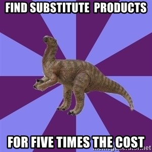 IBS Iguanadon - find substitute  products for five times the cost
