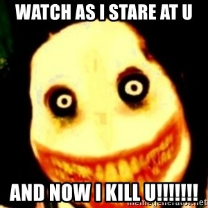 Tipical dream - WATCH AS I STARE AT U AND NOW I KILL U!!!!!!!