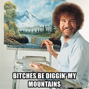 SAD BOB ROSS -  bitches be diggin' my mountains