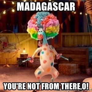 Afro Circus Polkadot - Madagascar  You're not From there,o!