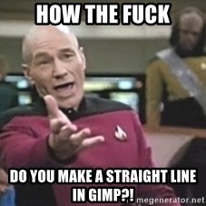 Captain Picard - HOW THE FUCK DO YOU MAKE A STRAIGHT LINE IN GIMP?!