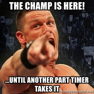 John Cena Smack Down - The champ is Here! ...Until another part timer takes it