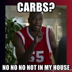 Dikembe Mutombo - Carbs? No no no not in my house