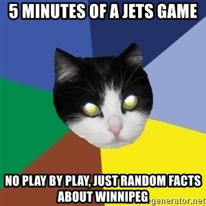 Winnipeg Cat - 5 minutes of a jets game no play by play, just random facts about winnipeg