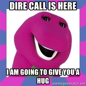 Barney the Dinosaur - Dire call is here I am going to give you a hug