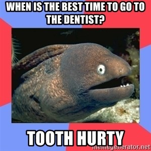 Bad Joke Eels - When is the best time to go to the dentist? Tooth Hurty