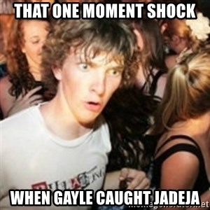 sudden realization guy - that one moment shock when gayle caught jadeja