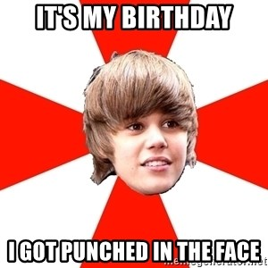 Justin Bieber - IT'S MY BIRTHDAY I GOT PUNCHED IN THE FACE