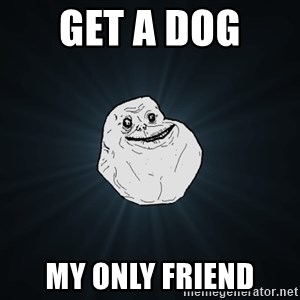 Forever Alone - get a dog  my only friend