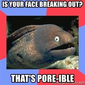 Bad Joke Eels - is your face bReaking out? that's pore-ible