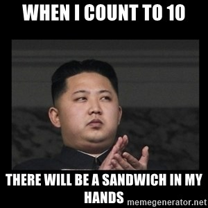 Kim Jong-hungry - when i count to 10 there will be a sandwich in my hands