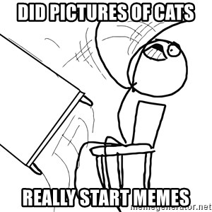 Desk Flip Rage Guy - Did pictures of cats really start memes