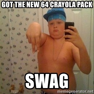 Swagmaster - Got the new 64 crayola pack swag