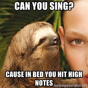 The Rape Sloth - can you sing? cause in bed you hit high notes