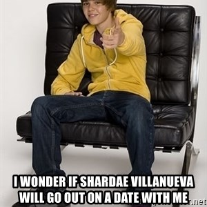 Justin Bieber Pointing -  I WONDER IF SHARDAE VILLANUEVA WILL GO OUT ON A DATE WITH ME