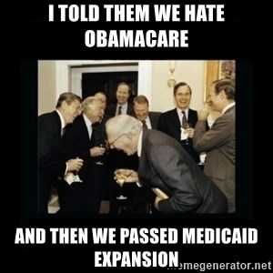 Rich Men Laughing - I told them we hate obamacare and then we passed medicaid expansion