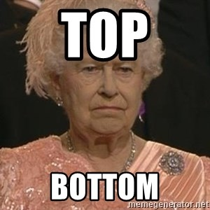 Queen Elizabeth Meme - top bottom