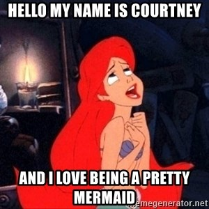 Little mermaid ariel - hello my name is courtney and i love being a pretty mermaid