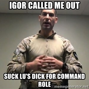 GMRPLS - Igor Called me Out Suck Lu's dick for command role