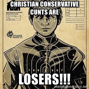 Child queen Phlash Misericord - CHRISTIAN CONSERVATIVE CUNTS ARE LOSERS!!!