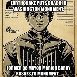 Child queen Phlash Misericord - Earthquake Puts Crack in Washington Monument. Former DC Mayor Marion Barry rushes to monument...