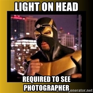 Phoenix Jones - light on head required to see photographer