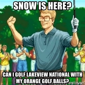 Happy Golfer - Snow is here? Can I Golf Lakeview National with my orange Golf balls?