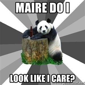 Pickup Line Panda - Maire do i  look like i care?