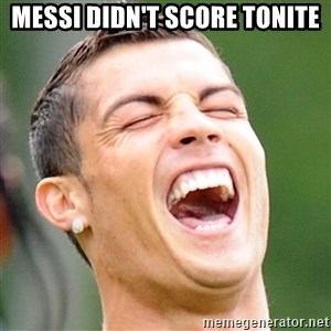 Cristiano Ronaldo Laughing - messi didn't score tonite