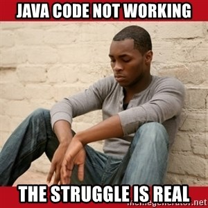 The Struggle Is Real - Java code not working The struggle is real