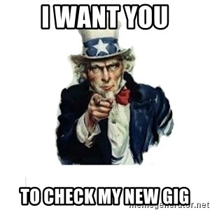 I want you (No words) - I WANT YOU to check my new gig