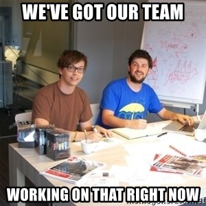 Naive Junior Creatives - we've got our team working on that right now